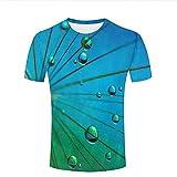 Photo de chenjing custom Unisex 3D T-Shirt Falling Waterdrop Blue Graphics Tees par chenjing custom