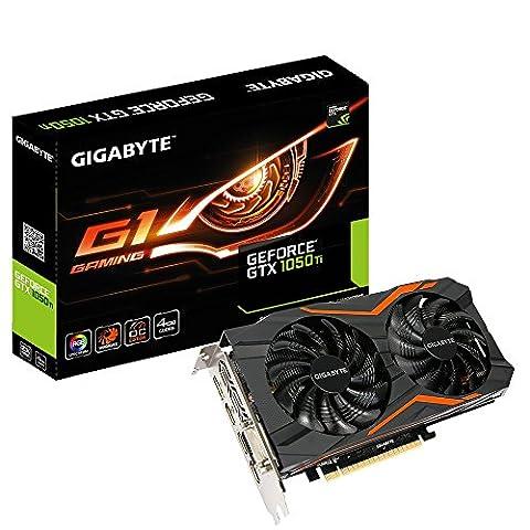 Gigabyte GeForce GTX 1050 Ti G1 Gaming Grafikkarte ( 4G, 3x HDMI, DisplayPort, DVI-D, PCIe x16 (Version: 3.0))