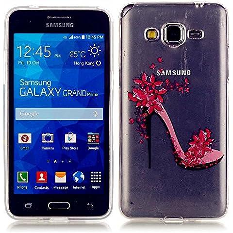 KSHOP Funda Case para Samsung Galaxy Grand Prime SM-G530/G530F Case Cover Carcasa Suave Flexible TPU Silicona gel Forro Delgada Resistente a los Arañazos - zapatos de tacón alto
