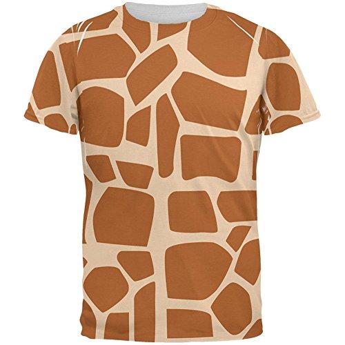 Giraffe westafrikanischen Cartoon Kostüm Aller Herren-T-Shirt Multi-2XL (Giraffe Kostüm Männer)