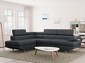 Laissez-vous séduire par le style scandinave de ce canapé : de belles couleurs, un revêtement tissu et de magnifiques pieds en bois. Grâce aux 3 appui-têtes et à son accoudoir relevables, le canapé s'adapte à vous pour un confort parfait. Son design ...