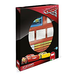 MULTIPRINT Cars 3 - Juegos de Sellos para niños, Caucho, Madera, 3 año(s), Italia, 190 mm, 36 mm