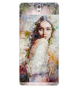 ColourCraft Girl Design Back Case Cover for SONY XPERIA C5 ULTRA DUAL