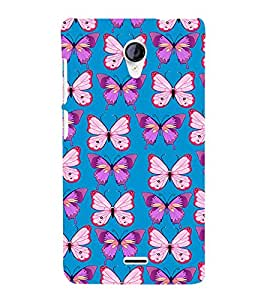 PrintVisa Designer Back Case Cover for Micromax Unite 2 A106 :: Micromax A106 Unite 2 (beautiful butterfly voilet pink cute flies)