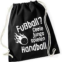 Sportbeutel Jungs Handball Turnbeutel mit Spruch/Gymbag / Jutebeutel/Rucksack