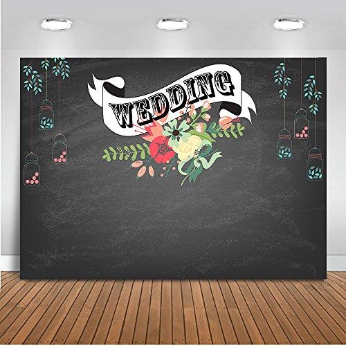 Mehofoto Hochzeit Zeremonie Hintergrund 7x5ft Blume Dekoration Hochzeit Banner Foto Kulissen Nahtlose Black Base Fotografie Hintergrund