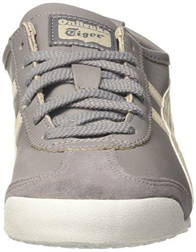 Asics Mexico 66 Sneakers, Scarpe da Ginnastica Basse Unisex-Adulto Grigio (Aluminum/Birch)