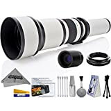 Opteka 650-2600mm High Definition Ultra Telephoto Zoom Lens for Nikon F-Mount Digital SLR Photo Cameras + Premium 8-Piece Cleaning Kit