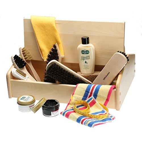 Shoe Care Box I with shoe leathe...