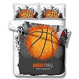 LHKAVE Onlyway Set di Biancheria da Letto con Motivo Stampato 3D Serie di pallacanestro3 Pezzi,1 Copripiumino e 2 federe,Regali per Adolescenti,D,Queen
