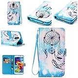 Chreey Coque Samsung Galaxy S5 GT-i9600 / SM-G900F (5.1 pouces),PU Cuir Portefeuille Etui Housse Case Cover ,carte de crédit Fentes pour ,idéal pour protéger votre téléphone