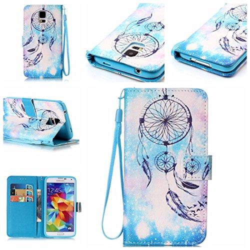Nancen, Borsa a spalla donna Bleu Campanula amsung Galaxy S5 / I9600 SM-G900F