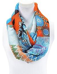 Gemusterter Schlauchschal in kontrastfarben Polyester Schlauchschal Damen Schal, Loop Modetrend für Frühjahr 2015