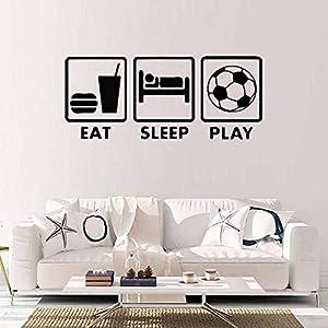 ljjljj Eat Sleep Play Wandtattoos mit dem Pattrens Wandtattoo für Jugendzimmer Wohnaccessoires 18x42cm
