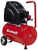Einhell TH-AC 200/24 OF 24L Oil Free Air Compressor 0-8 Bar and 140L Minute Red, L:575mm x B:270 mm...