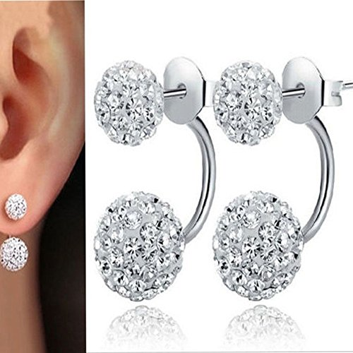 Bijoux Femmes, Boucles d'oreilles en Cristal de Neige Strass...