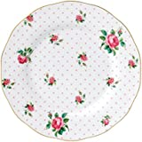 Royal Albert - Plato llano (20 cm, porcelana fina), diseño retro de flores, multicolor