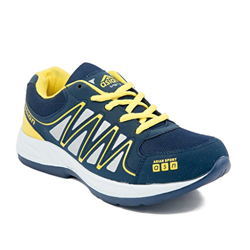 Asian Navy Blue and Yellow BULLET33 Men's Range Running shoes