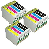 AA+inks 15x Druckerpatronen Kompatible für Epson B40W BX300F BX310FN BX600FW BX610FW DX9400F S20 S21 SX100 SX105 SX110 SX115 SX200 SX205 SX210 SX215 SX218 SX400 SX405 - TO711 TO712 TO713 TO714 (15PK)