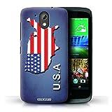 Stuff4 Hülle / Hülle für HTC Desire 526G+ / Amerika/Amerikaner/USA Muster / Flagge Land Kollektion
