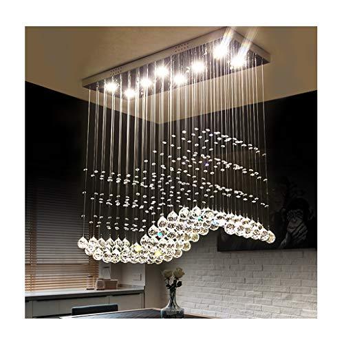 Lampadari Moderna lampada a sospensione di lusso, pendente in cristallo LED Living Room Decor, tavolo da pranzo camera da letto scala Hotel soffitto lampadario (dimensioni : 80 * 30 * 80cm/8 * 5W)