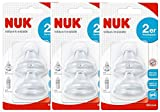 Nuk 10256442 First Choice Soft Trinktülle aus Silikon, auslaufsicher, kombinierbar mit allen Flaschen, BPA frei, 6-18 Monate, 2 Stück, 3er Pack (3 x 2er Blister)