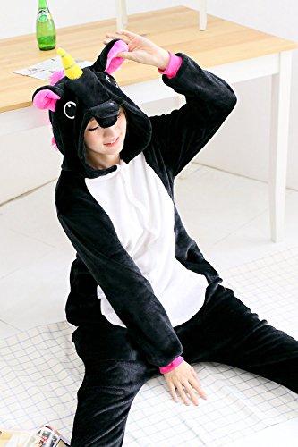 BienBien Damen Kostümrock, Animalprint Licorne noir
