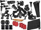 yayago Mehrteiliges Set für DBPower HD 1080p Kopfband Lenker Halterung Fahrrad
