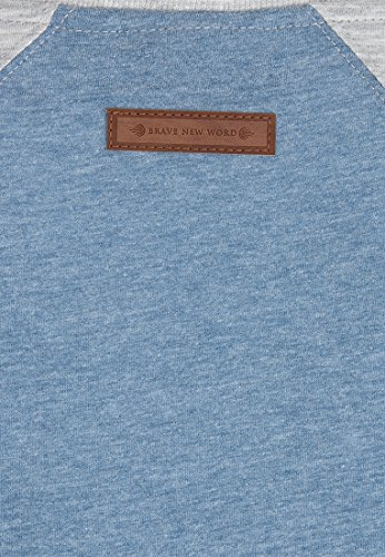 Naketano Female Shortsleeve purger mit Burger III Light Blue-Grey Melange