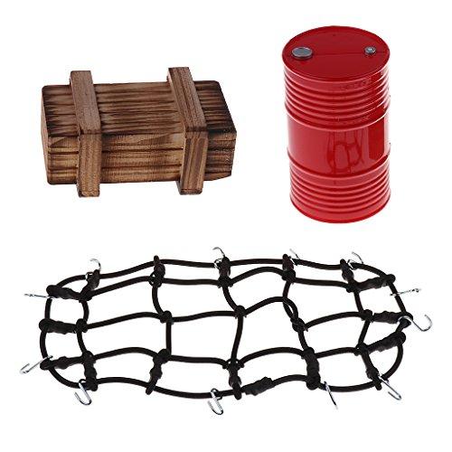 MagiDeal Metall Gepäcknetz Öltank Kisten für 1/10 HSP Redcat Axial Scx10 Traxxas TRX-4 RC4WD D90 D110 CC01