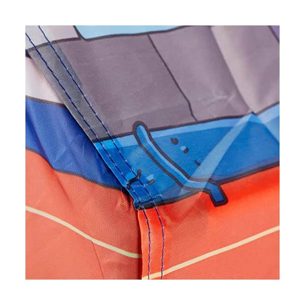 Relaxdays Police Station Play Tent for Children, Outdoors, 3 and Up, Fabric Kids Playpen HWD 102 x 72 x 95 cm, Blue-Red Relaxdays Large: This red and blue play tent with 2 entries measures H x W x D app. 102 x 72 x 95 cm With print: Police station tent - Print with police car and dog - Perfect for playing detective Lots of fun: The non-toxic play tent provides loads of fun for kids aged 3 and up 7