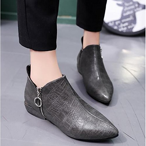 Chaussures grises Chic femme j8WTfE5nw