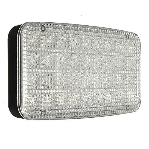 ILS - LED de 12V 36 para techo, cúpula, techo, luz interior, lámpara blanca, lamparita para coche, automóvil, caravana, vehículo, camión o barco