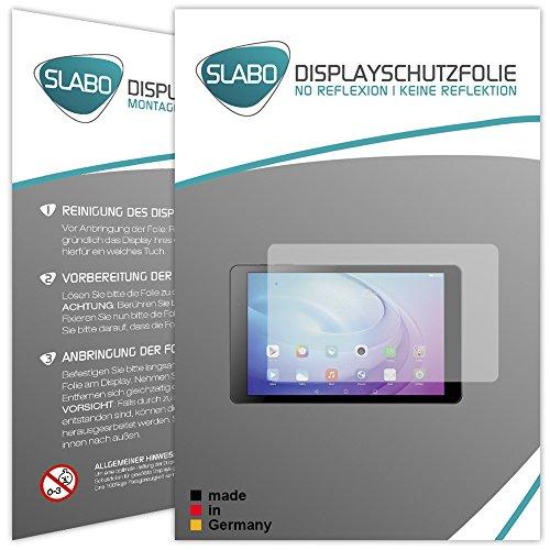 Slabo 2 x Bildschirmschutzfolie Huawei MediaPad T2 10.0 Pro Bildschirmschutz Schutzfolie Folie No Reflexion|Keine Reflektion MATT - Entspiegelnd Made IN Germany