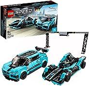 LEGO 76898 Speed Champions Formula E Panasonic Jaguar Racing Generation 2 car and Jaguar I-PACE eTROPHY Race C