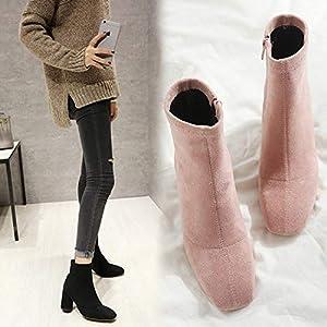 Top Shishang Herbst und Winter Frauen Kopf dick mit elastischen Stretch-Leder Martin Stiefel Chelsea Stiefel und Stiefeletten westlichen Stiefeletten
