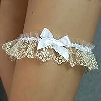 Giarrettiera di pizzo nozze matrimonio sposa biancheria intima regali de nozze