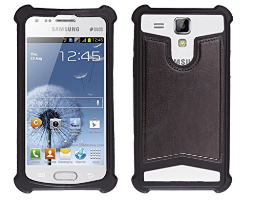 Shopme Shock proof,Silicon,Premium PU Leather Back cover for Samsung Galaxy S Duos (Black Color) (Special Anti Shock Bumpers on all four sides , 360 degress Protection, Access to all Ports)  available at amazon for Rs.199