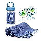 ACVIOO Handtücher Mikrofaser Kühltuch Kühlendes Handtuch Cool Handtuch für Fitness Yoga Camping Wandern (Blau) (MEHRWEG)