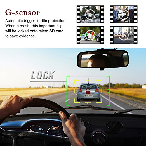 TOGUARD Dash cam Dashboard CameraCar driving Recorder by SONY Exmor Sensor 2 LCD H264 100 % HD 1080P G Sensor Parking Monitor trap recording car  vehicle Driving Recorders
