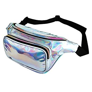 CHIC DIARY Reflektierender Bauchtasche Wasserdicht Hüfttaschen Sport Gürtel Tasche Outdoor glänzend Travel Umhängetaschen für Damen und Herren