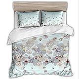 SHJIA 3D Bettwäscheset Bettwäsche Set Print Bettwäsche Mit Kissenbezug Bett Set Heimtextilien E 220x240cm