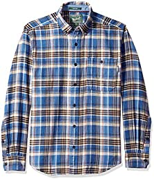 amazon co uk woolrich clothingwoolrich men\u0027s trout run flannel shirt button