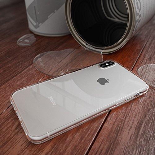 iPhone X Hülle Handyhülle von NICA, Ultra-Slim Silikon Case Cover Crystal Schutzhülle Dünn Durchsichtig, Etui Handy-Tasche Backcover Transparent Bumper für Apple iPhone-X Phone, Farbe:Transparent Transparent