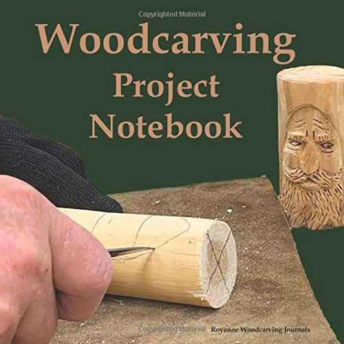 Woodcarving Project Notebook: Tree Spirit Cover - A Journal for 15 Wood Carving Projects - Each Project has 7 Pages to Document Wood, Tools, Carving ... Techniques, Notes and Competition Entry Chip Carving Knives