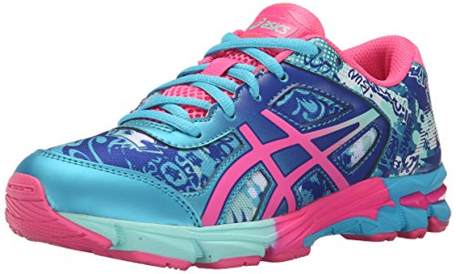 Asics Gel-Noosa Tri 11 GS Running Shoe (Little Kid/Big Kid) Turquoise/Hot Pink/Asics Blue