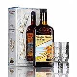 CAFFO | Vecchio Amaro del Capo | FLASCHE IN FALL + 2 ORIGINAL GLAS | 35% Vol. | 1 FLASCHE | 70 cl