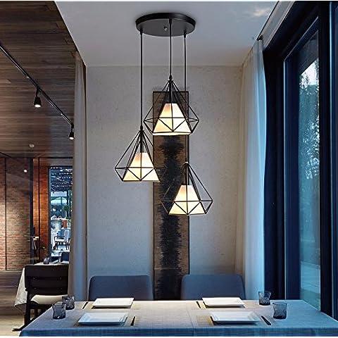 Semplice in ferro battuto lampadario birdcage,disc,luce calda
