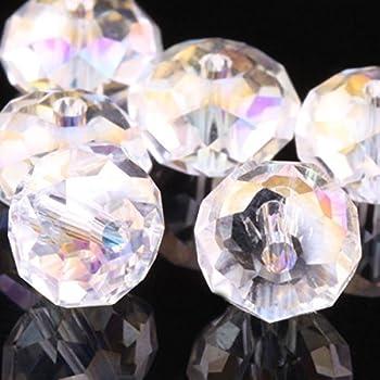 Wholesale 5040 Austria Crystal Rondelle Beads Pick (3mm 4mm 6mm 8mm 10mm 12mm) (6mm Crystal ab100 pcs) by 4DeCo