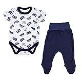 TupTam Unisex Baby Bekleidungsset mit Aufdruck 2 TLG, Farbe: Super Hero Dunkelblau, Größe: 68